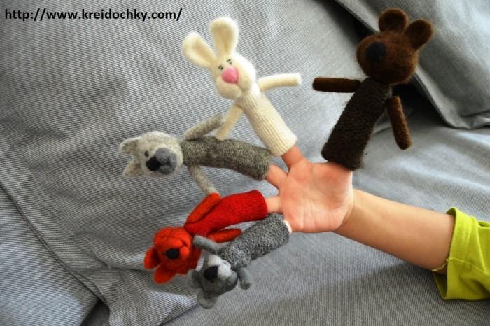 пальчикові іграшки звірята