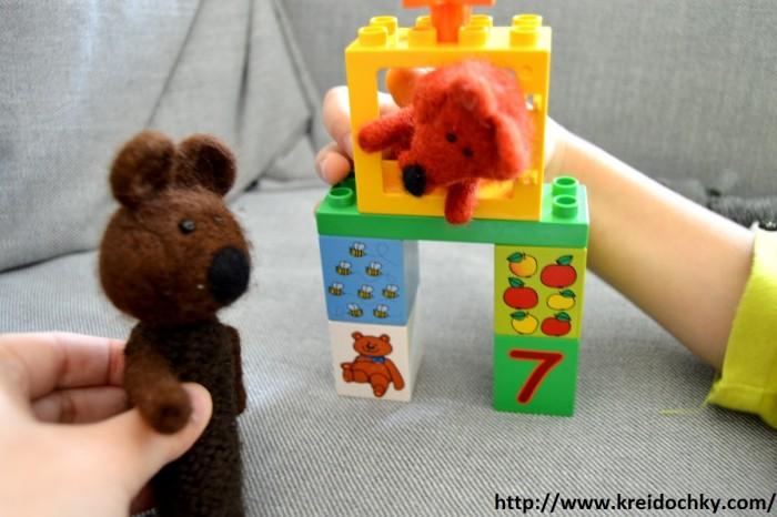 іграшка ведмедик та лисичка
