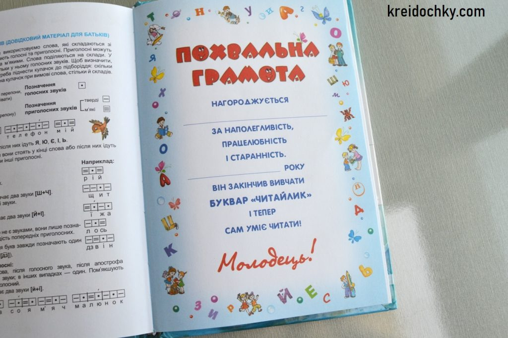 похвальна грамота Федієнко