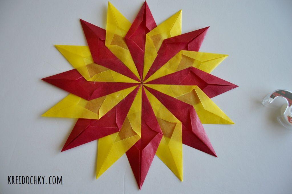 зірка з кольорової кальки